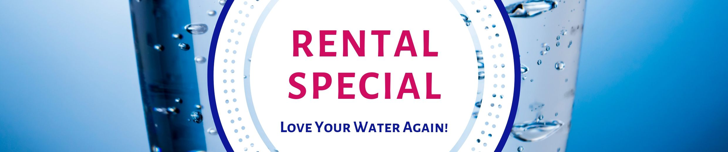 rental special, water softener rental